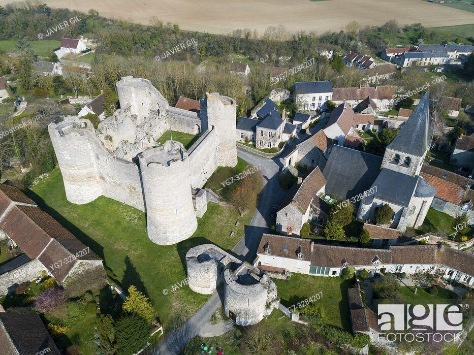 Stock Photo: Yevre-le-Chatel in Yevre-la-Ville, Loiret, Centre-Val de Loire, France.