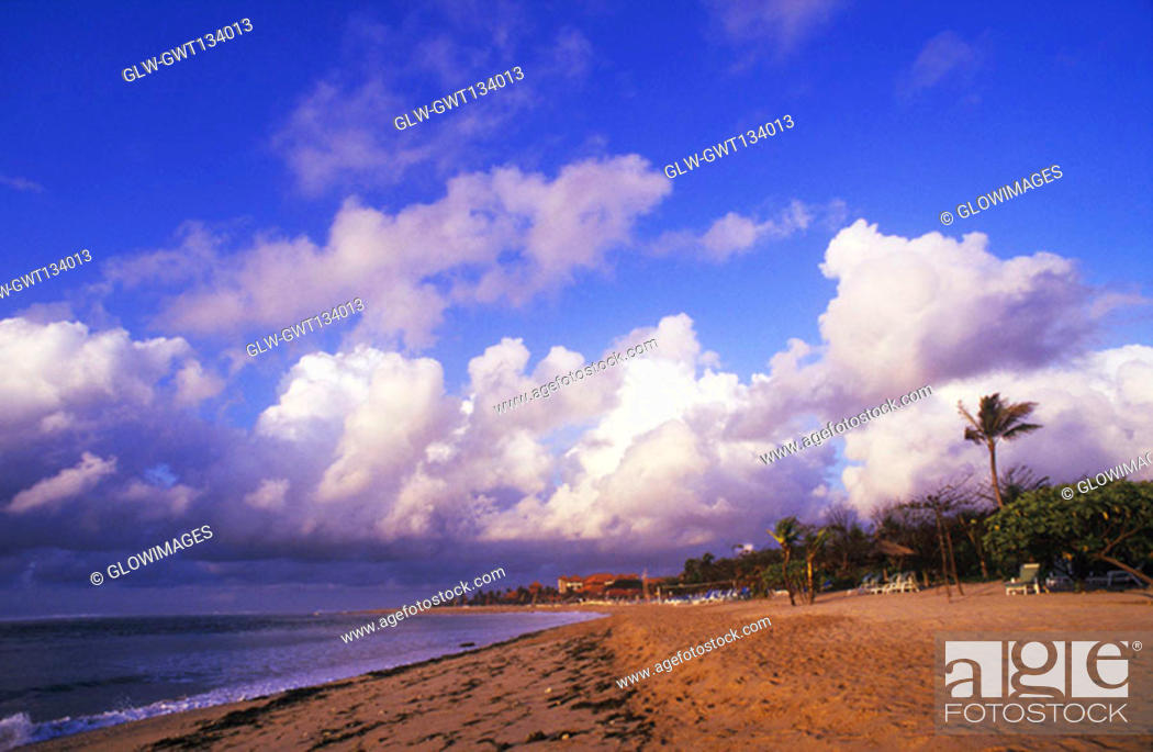 Stock Photo: Panoramic view of the beach, Bali, Indonesia.