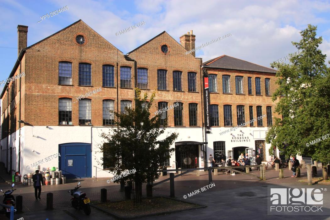 Stock Photo: The Rodboro Buildings Pub and Academy of Contemporary Music Guildford.