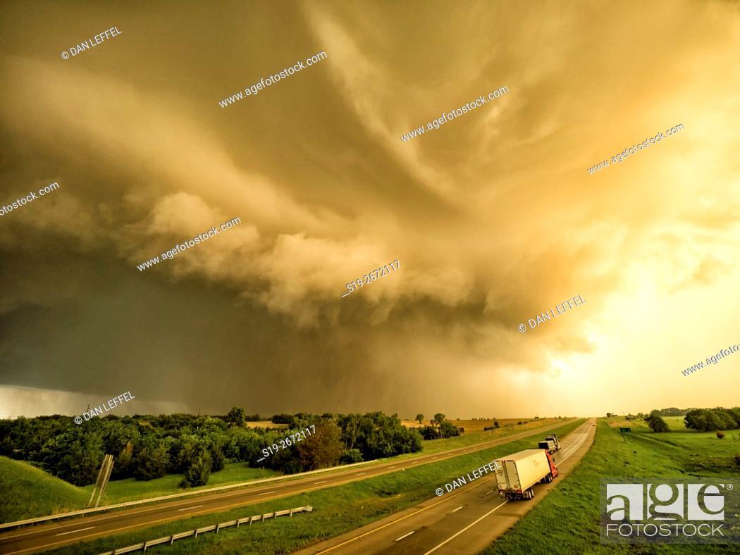 Stock Photo: Tornado Near Chapman Kansas.
