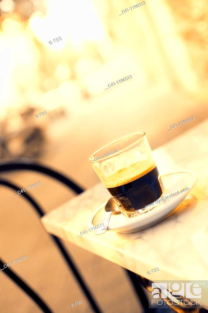 Stock Photo: coffee in a table.