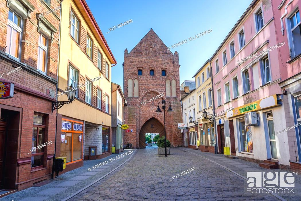 Stock Photo: Brama Kamienna- Stone Gate in Swidwin, capital of Swidwin County in West Pomeranian Voivodeship of northwestern Poland.