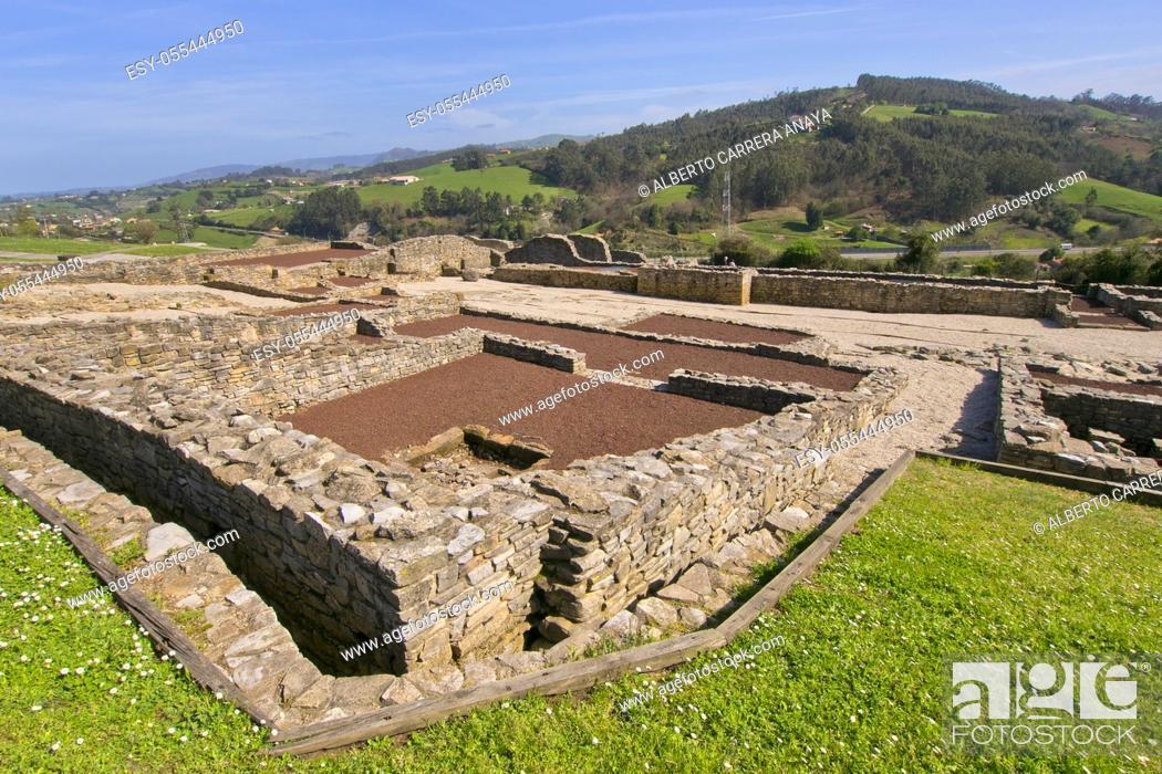Imagen: Roman Village of Veranes, Villa Romana de Veranes, Arqueological Site, Veranes, Cenero, Gijón, Asturias, Spain, Europe.
