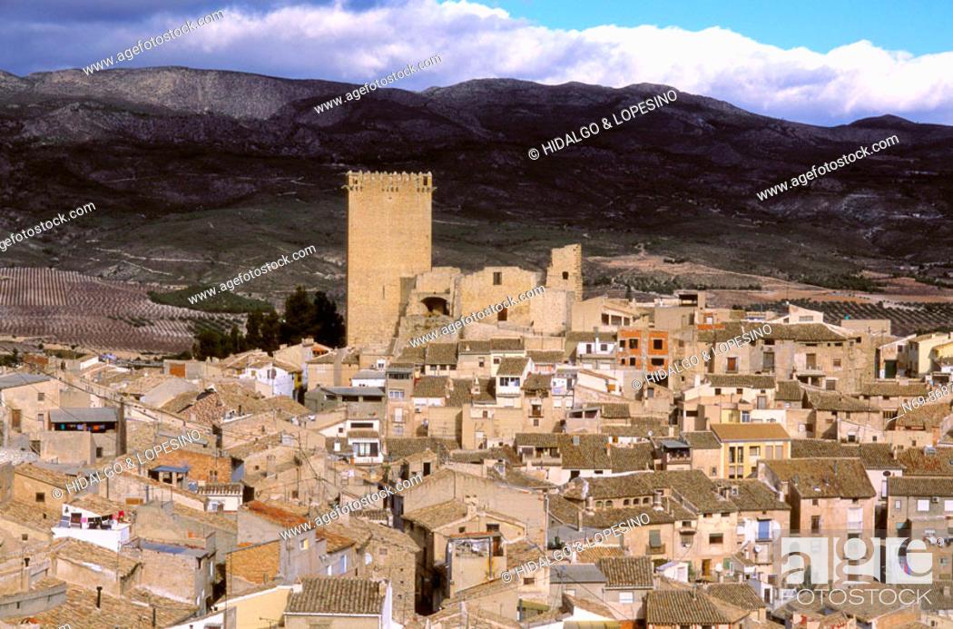 Stock Photo: Moratalla. Castle. XVth. Murcia province. Spain.