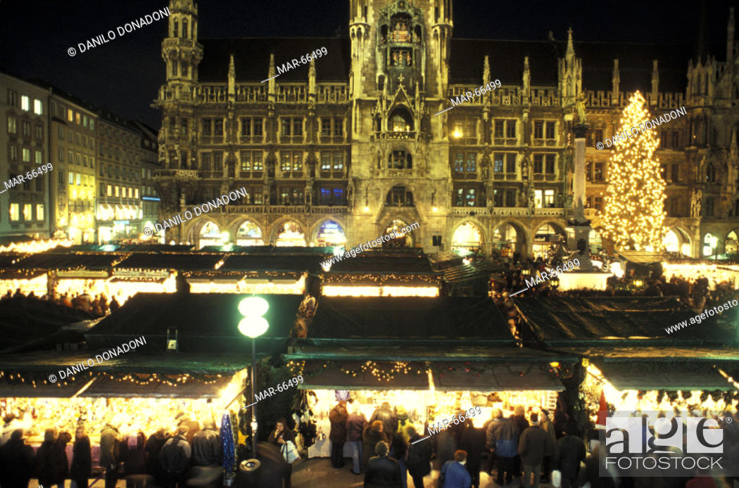 Christmas In Munich Germany.Christmas Market Munich Germany Stock Photo Picture And