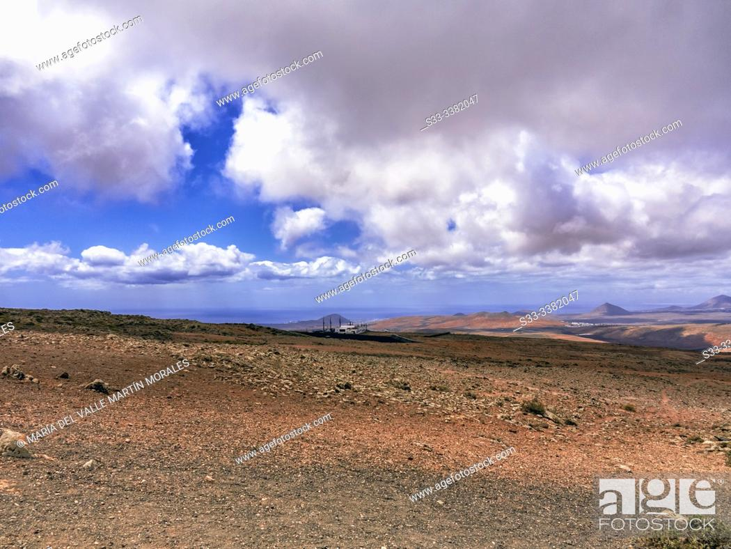 Stock Photo: View from Our Lady of the Snows. Lanzarote. Canary Islands. Spain. Europe.