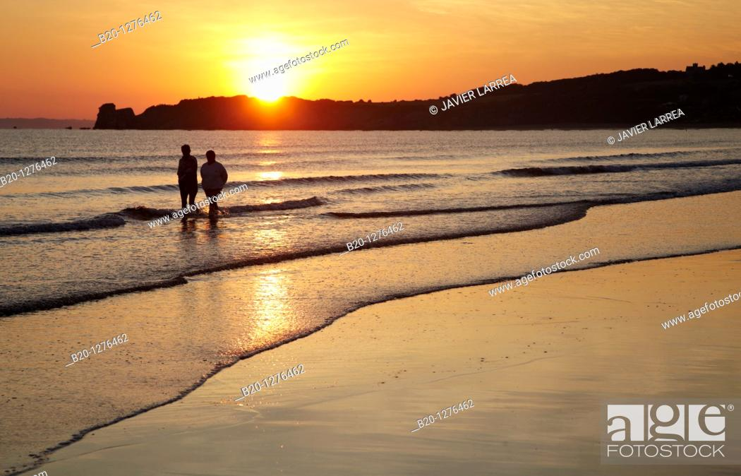 Stock Photo: Plage, Hendaye, Aquitaine, France.