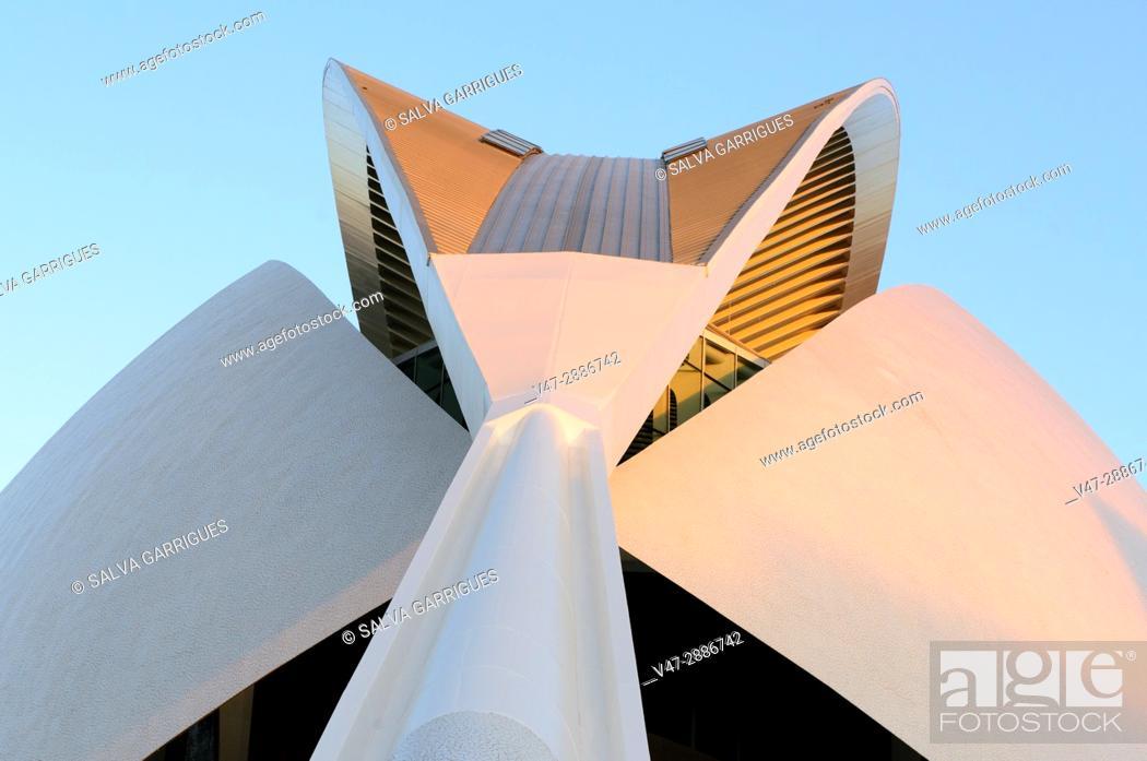 Imagen: Palau de les Arts Reina Sofia, City of Arts and Sciences, Valencia, Spain, Europe.