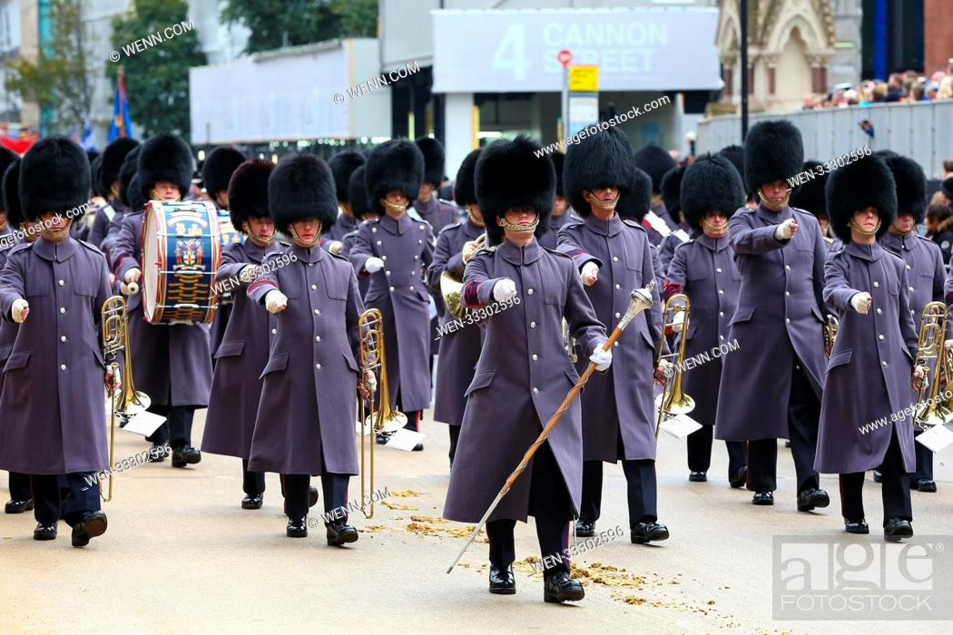 Stock Photo: The Lord Mayor's Show outside St Paul's Cathedral Featuring: Atmosphere Where: St Pauls Cathedral, London, United Kingdom When: 11 Nov 2017 Credit: WENN.