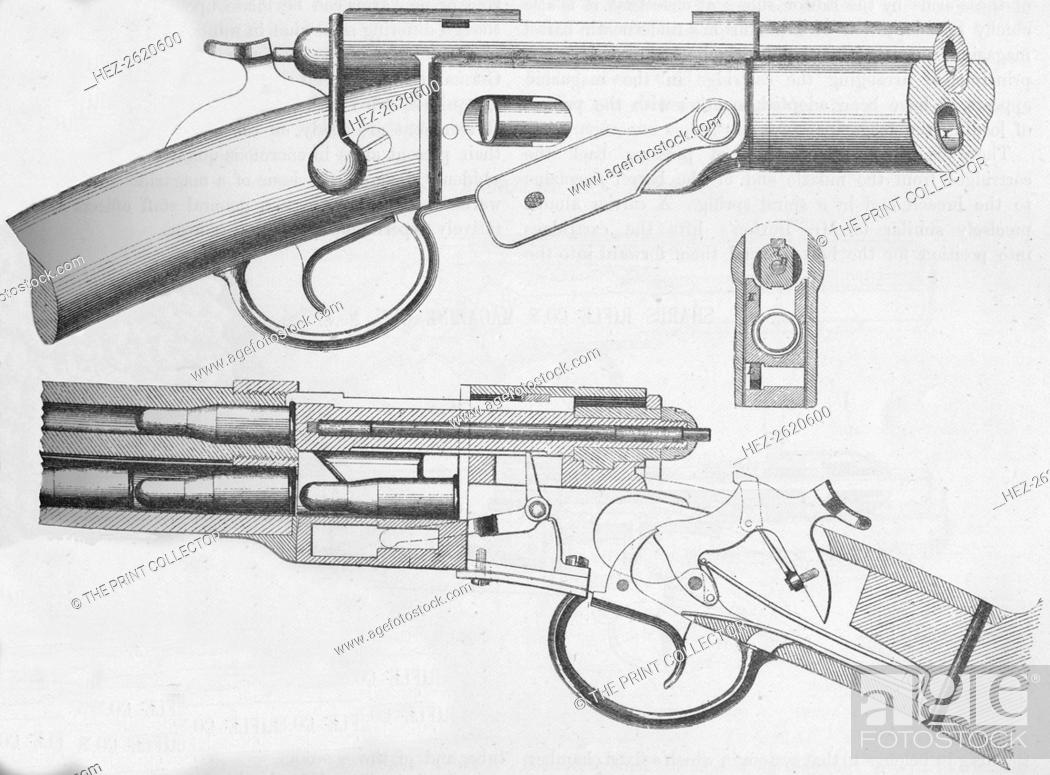 Stock Photo: The Vetterli Magazine Rifle, 1884. Artist: Unknown.