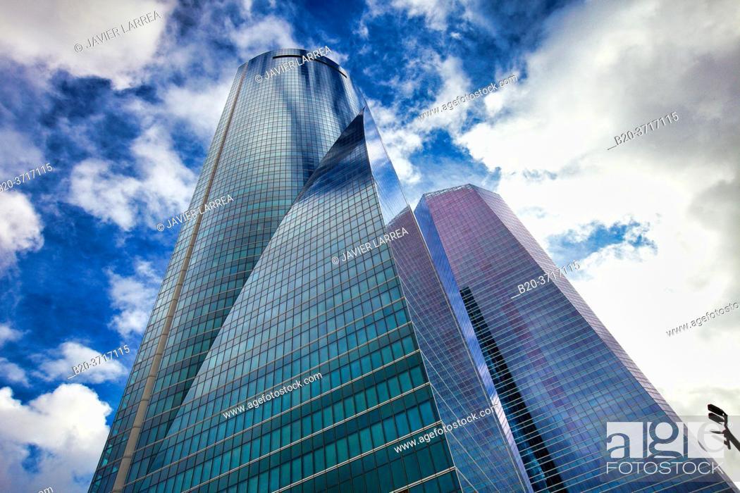 Stock Photo: Torre Espacio, CTBA, Cuatro Torres Business Area, Madrid, Spain, Europe.