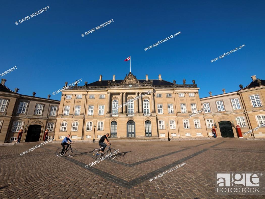 Stock Photo: The Amelienborg Palace, Copenhagen, Denmark.