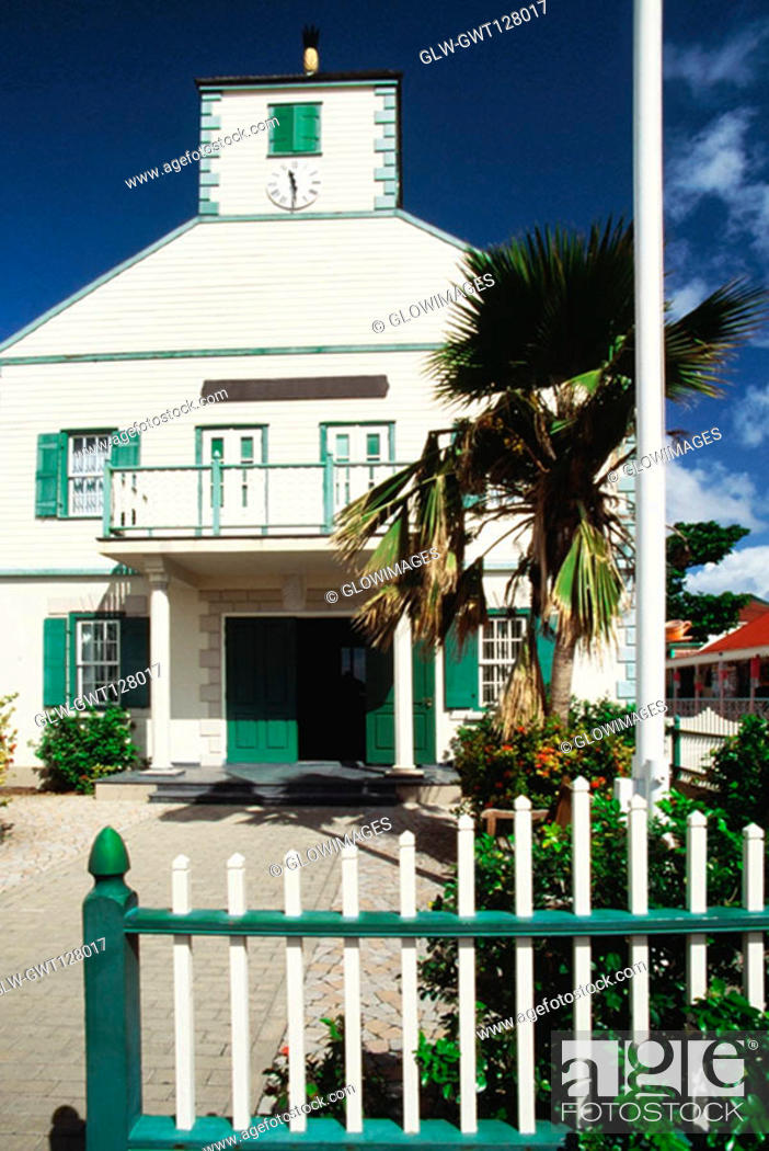 Stock Photo: Low angle view of a courthouse, St. Martin.