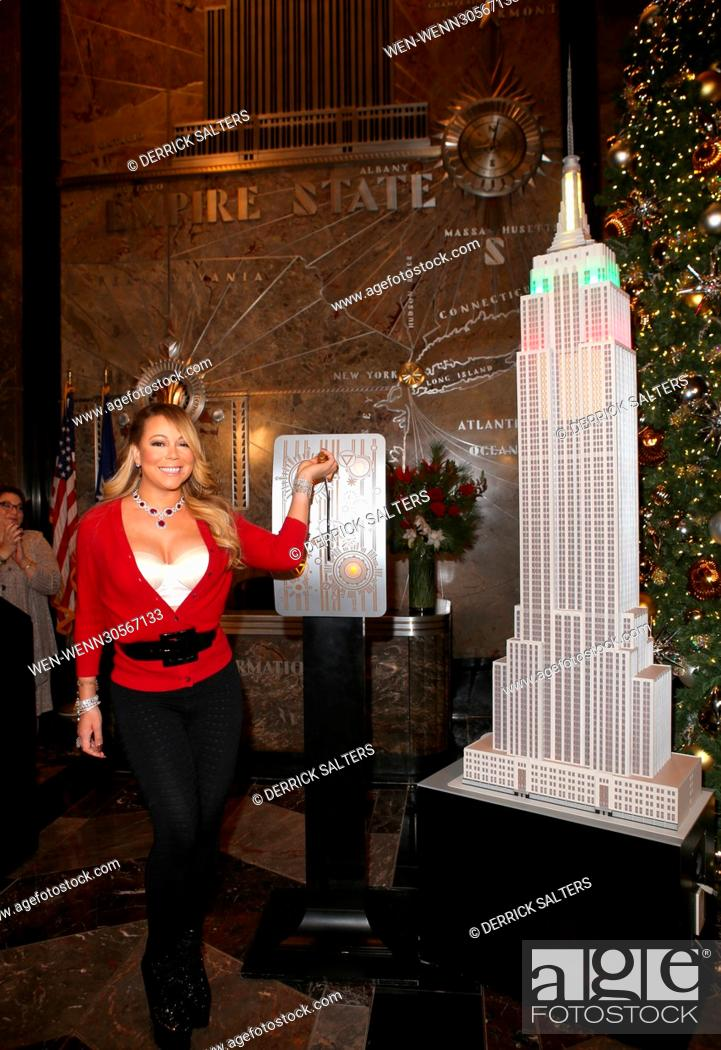 Stock Photo: Mariah Carey switches on the Empire State Building's Christmas  lights Featuring: Mariah - Mariah Carey Switches On The Empire State Building's Christmas