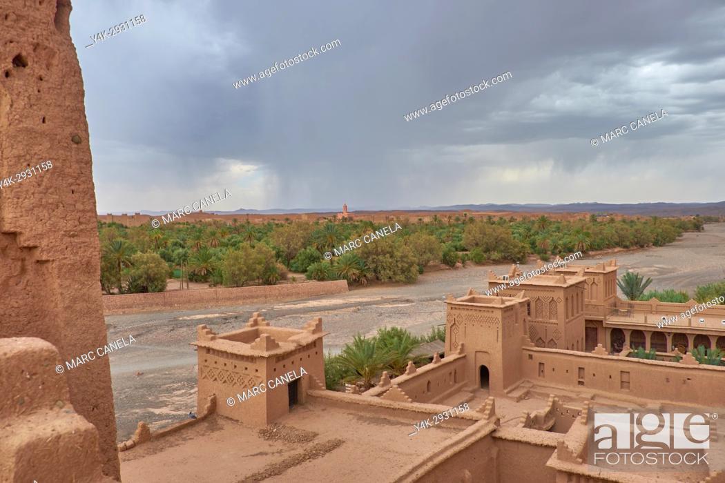 Stock Photo: Africa, Morocco Kashba Amridil near Ouarzazate.