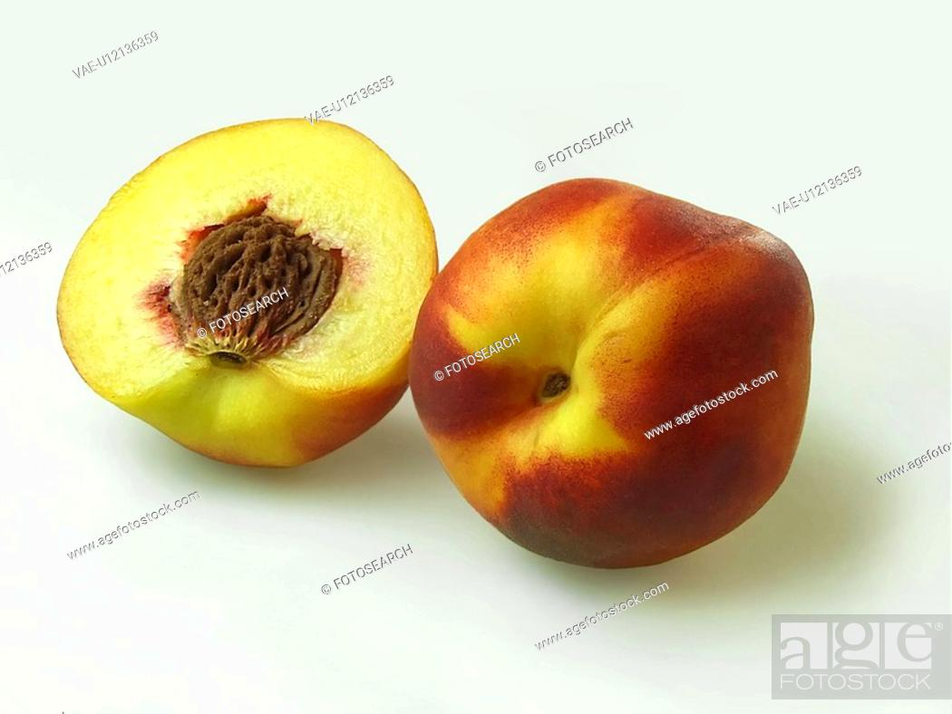 Stock Photo: Peach, Peaches, Fruits, Fruit, Juice, Drink, Sweet.