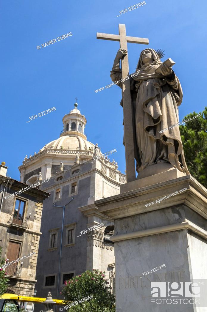 Stock Photo: Badia di Sant'Agata, Catania, Sicily, Italy.