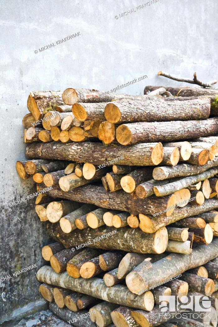 Stock Photo: Pile of wood.