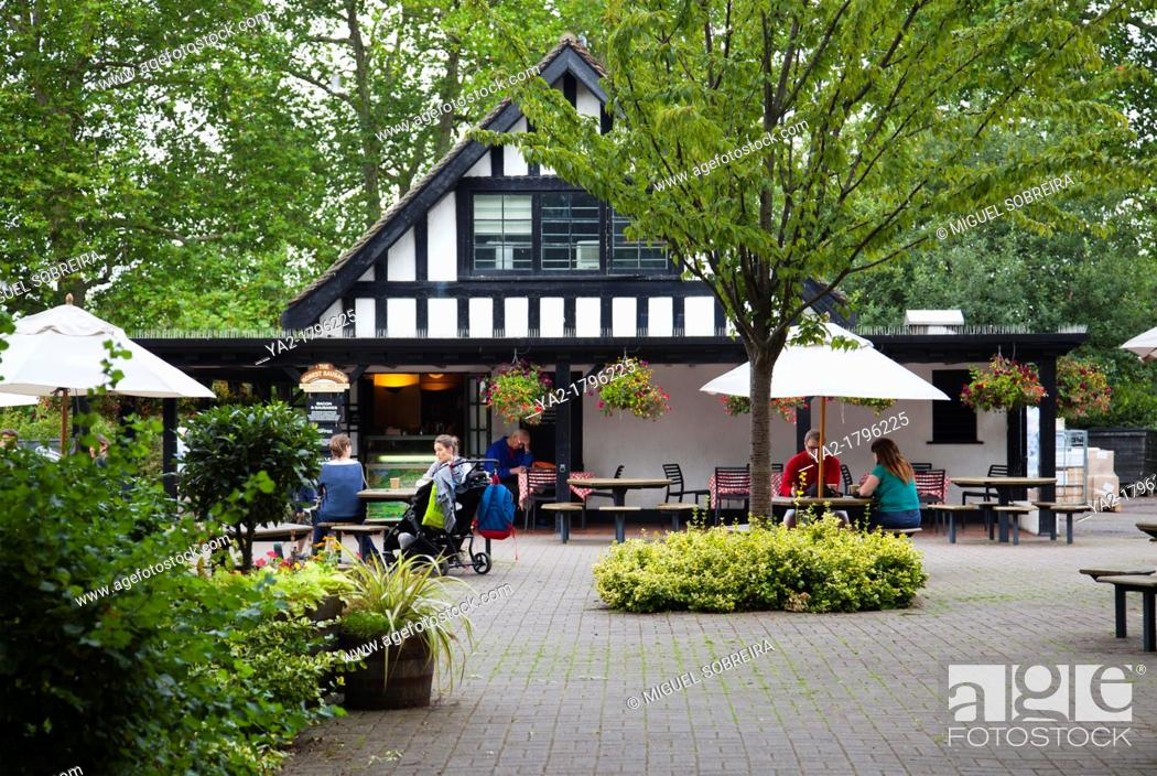 The Honest Sausage Restaurant Cafe in Regents Park, Stock
