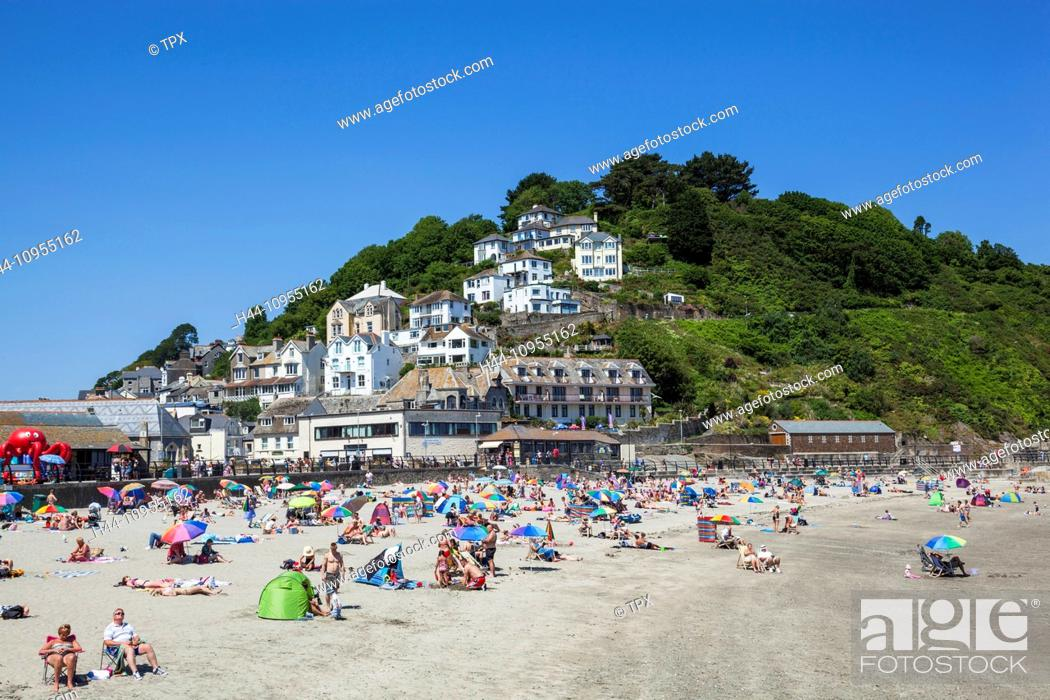 Stock Photo Uk United Kingdom Europe Great Britain England Cornwall Looe Beach Beaches English Cornish