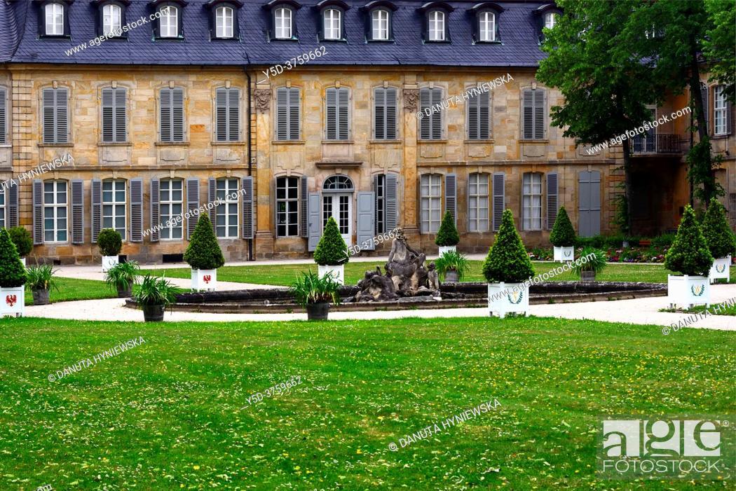 Stock Photo: Neues Schloss - New Palace historic part of Bayreuth, Upper Franconia, Bavaria, Bayern, Germany, Europe.