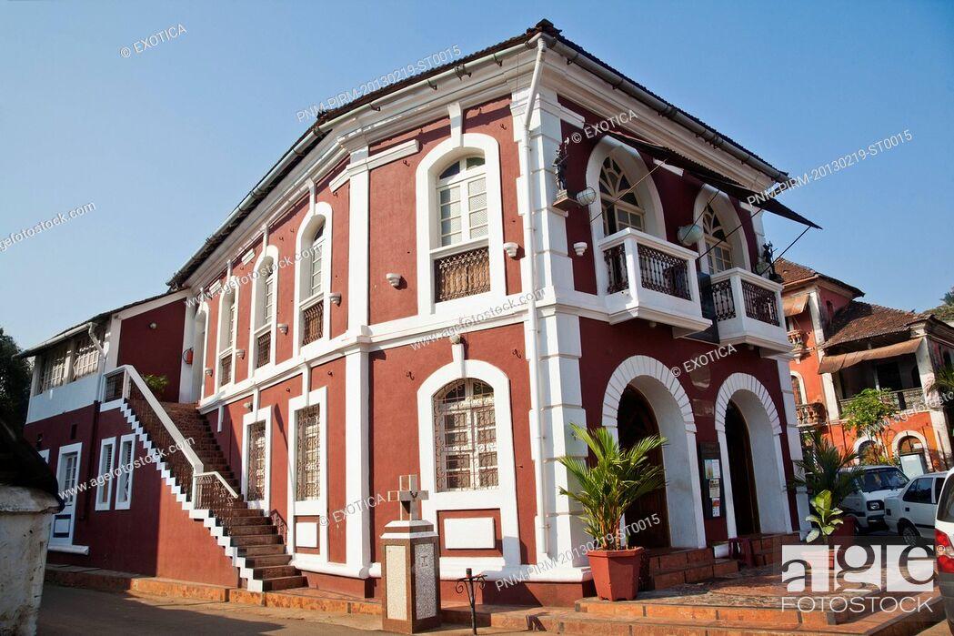 Stock Photo: Facade of Gitanjali Art Gallery, Panaji, North Goa, Goa, India.