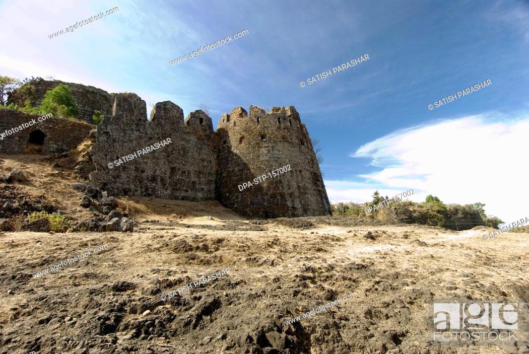Ruins of fort Gavilgad and bastion at Chikhaldara