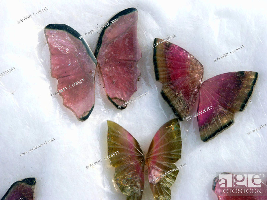 Stock Photo: Tourmaline butterflies.