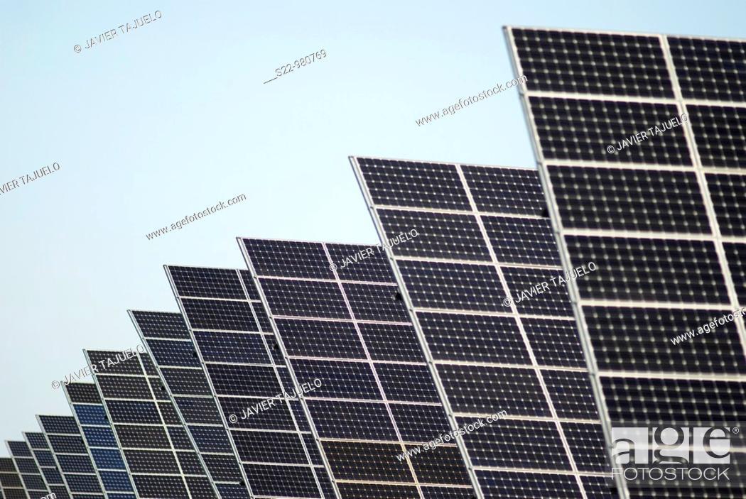 Stock Photo: Solar panels.