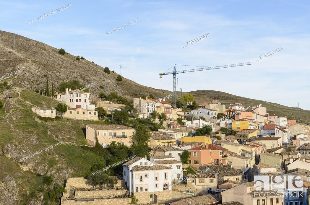 Stock Photo: Landscape view of Cuenca city from old town. Castile-La Mancha, Spain.