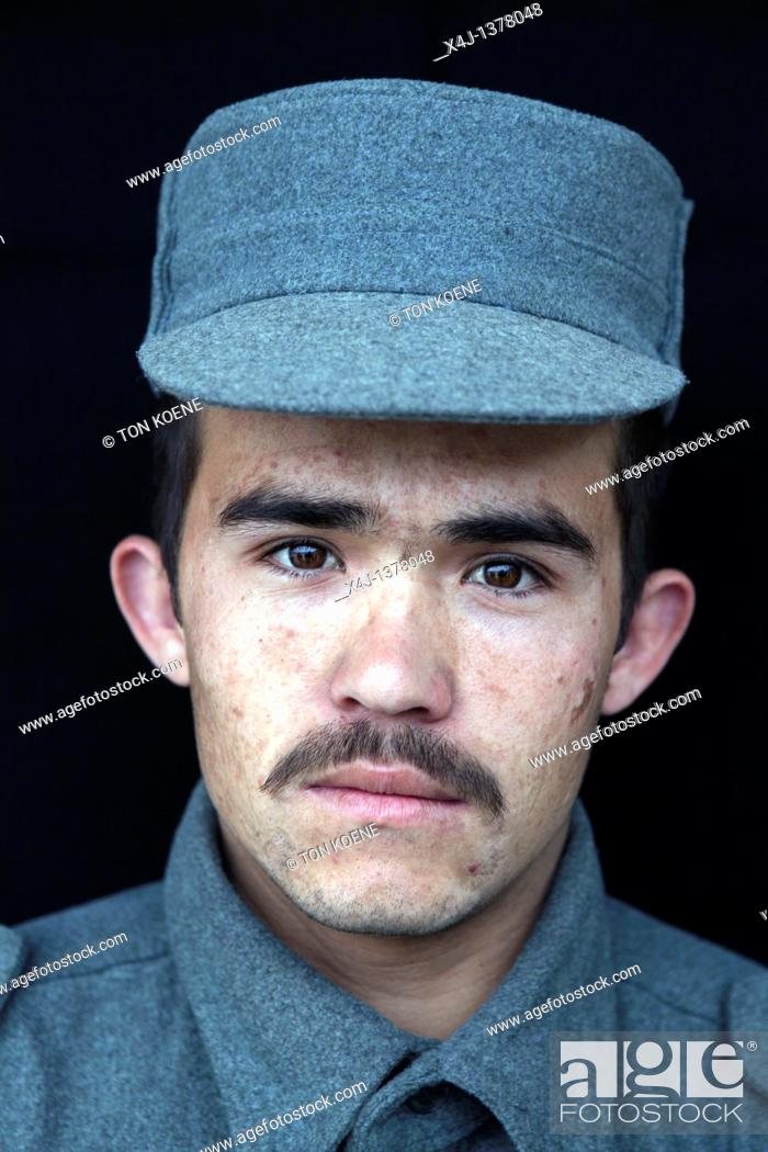 Stock Photo: Afghan recruits in German training centre, Kunduz.