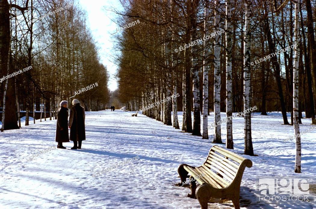 Stock Photo: Russia - St Petersburg - Tsarskote selo - Garden of Catherine 1st Palace.
