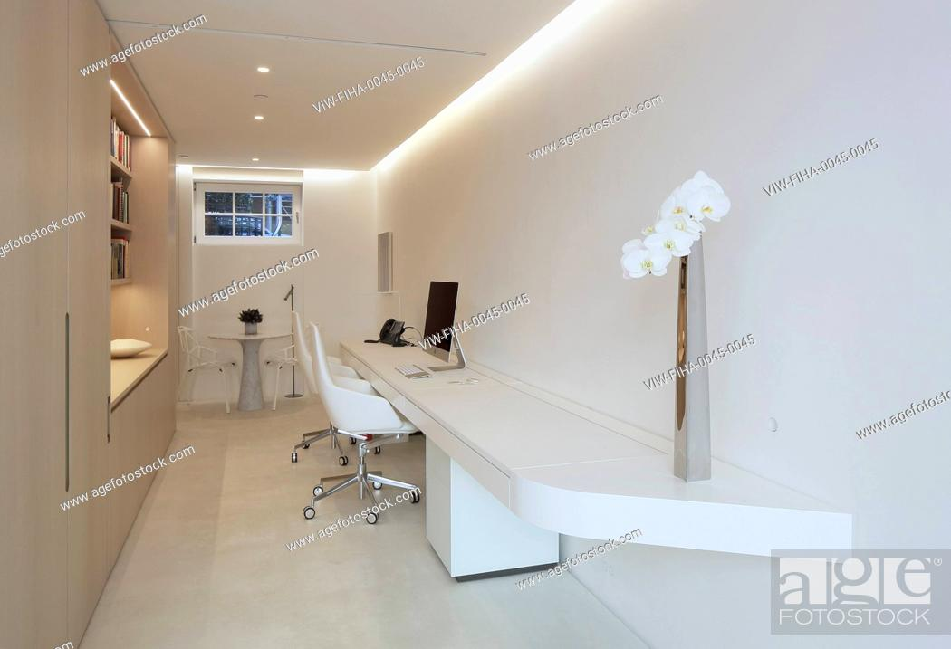 Stock Photo: Breathtaking townhouse completely renovated in minimalist style. The ultimate in fluid space.