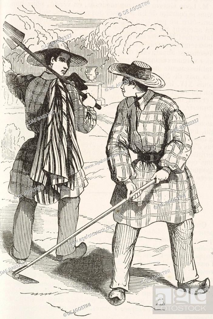 5dcce17b4925 Stock Photo - Settlers with winter and summer clothing