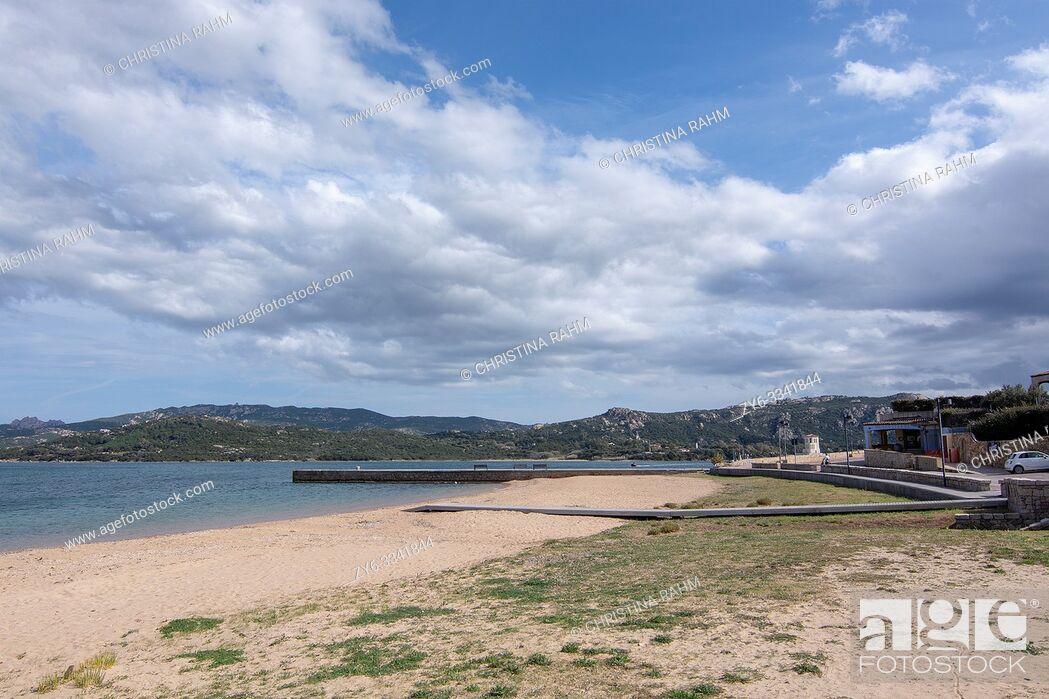 Stock Photo: SARDINIA, ITALY - MARCH 7, 2019: Empty sandy natural beaches on a spring day on March 7, 2019 Sardinia, Italy.