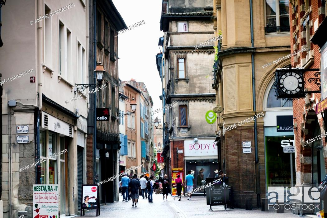 Stock Photo: Streets of Toulouse, France.