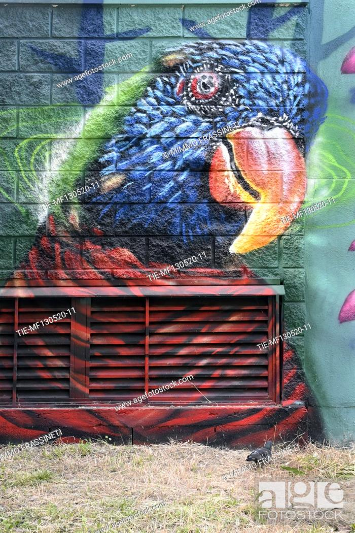Stock Photo: Some views of murals in the subway in Viale Jonio completed during the Coronavirus emergency , Rome, ITALY-13-05-2020.