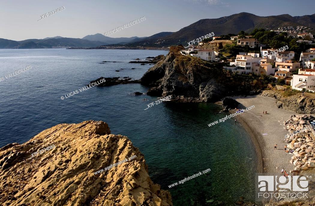 Stock Photo: Llança. Gola beach. Costa Brava. Girona province. Catalonia. Spain.