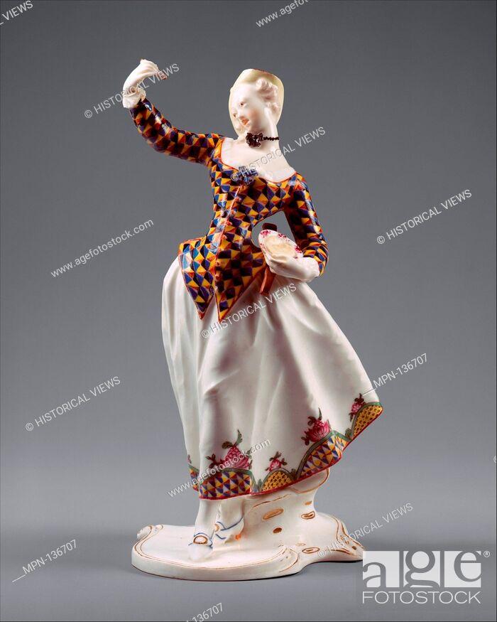Stock Photo: Harlequina. Modeler: Franz Anton Bustelli (Swiss, Locarno ca. 1720-1763 Munich); Manufactory: Nymphenburg Porcelain Manufactory; Date: ca.