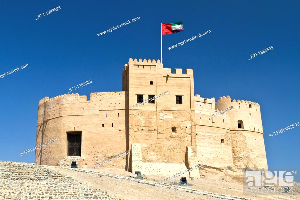 Stock Photo: The Fujairah Fort in Fujairah, UAE.
