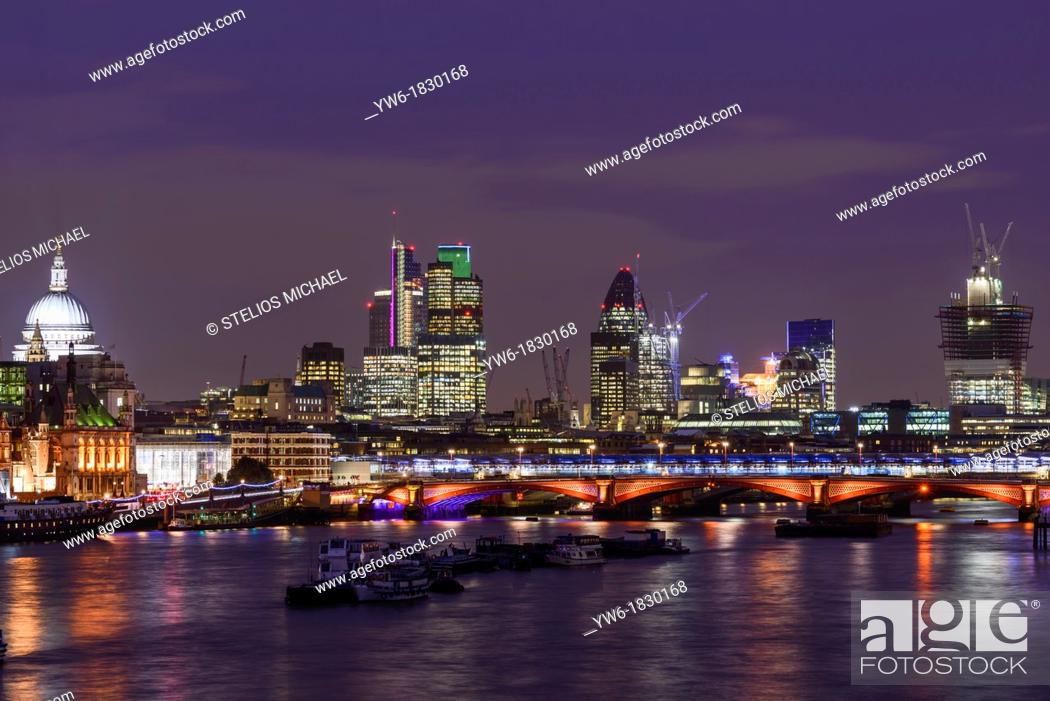 View Of The City Of London And The River Thames From