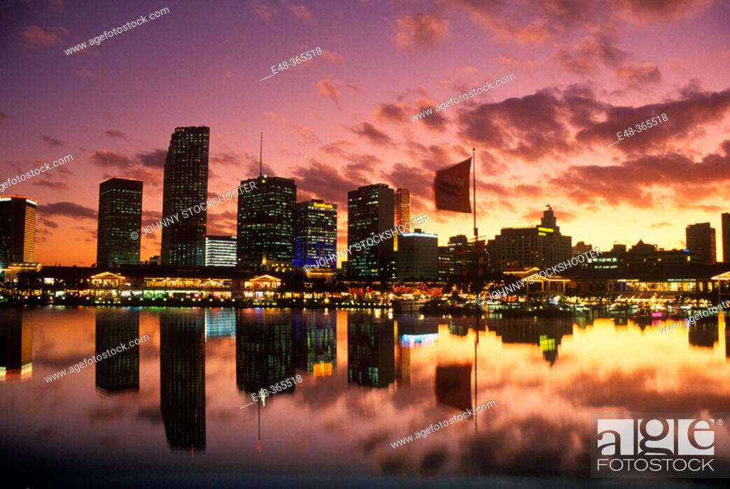 Stock Photo: Bayside Marketplace. Miami. Florida, USA.