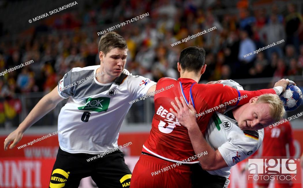 Germany S Finn Lemke L And Patrick Wiencek In Action