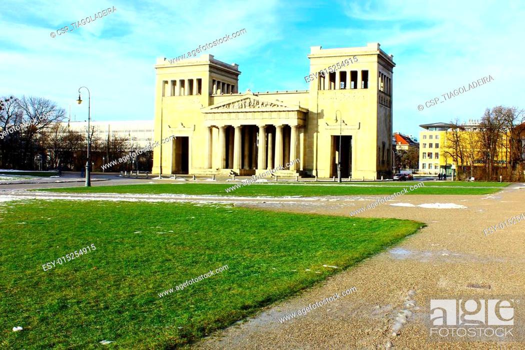 Stock Photo: Propylaen, Munich, Germany.