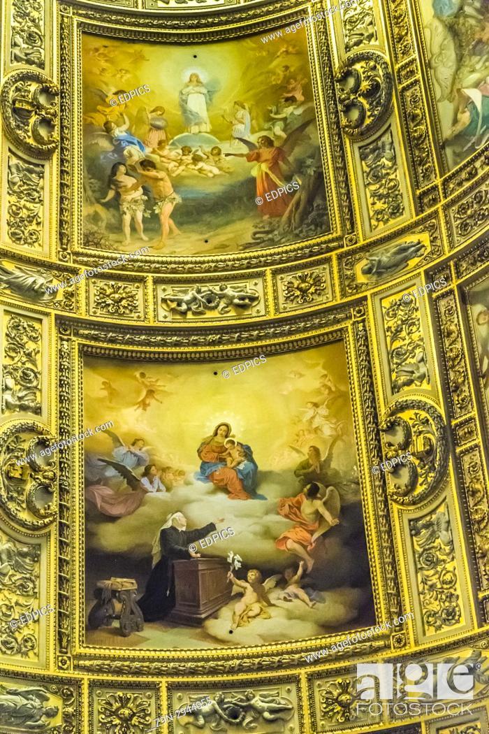 Stock Photo: fresco paintings in the apse of sant'andrea della valle church, rione sant'eustachio, rome, lazio, italy.