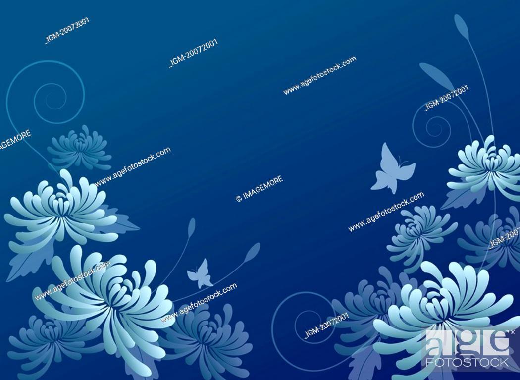 Stock Photo: Illustration of chrysanthemum.