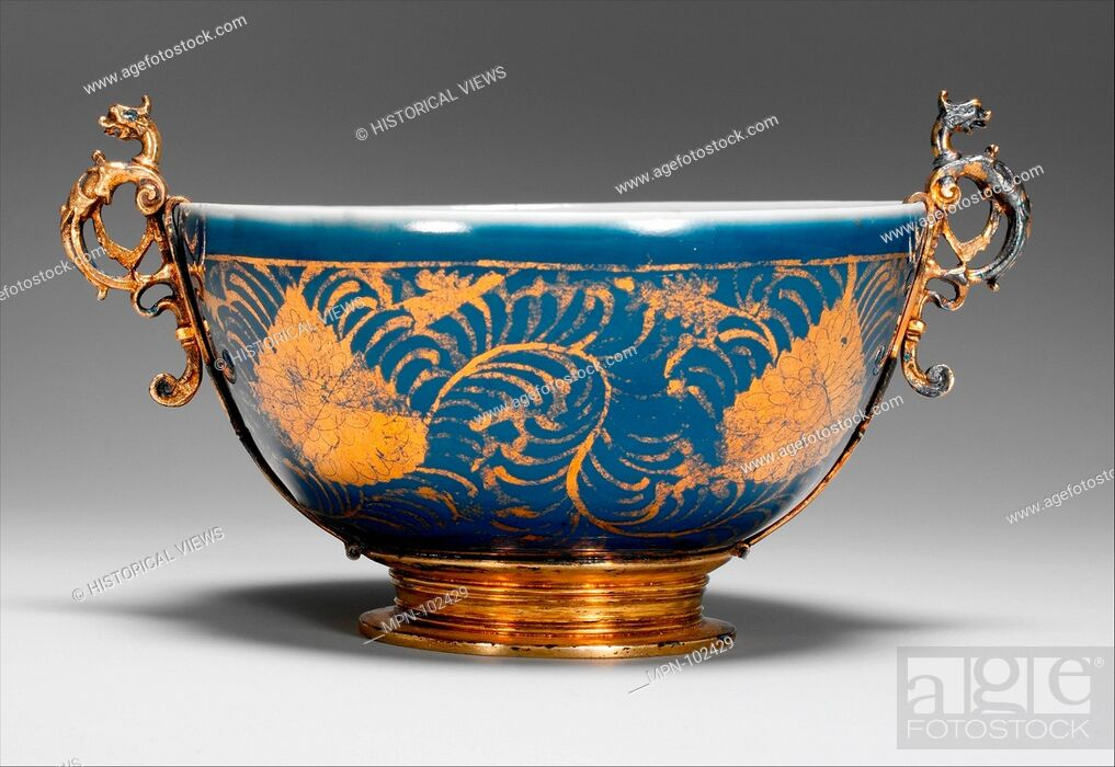 Stock Photo: Bowl with Stylized Leaves. Period: Ming dynasty (1368-1644); Date: second half of the 16th century; Culture: China; Medium: Porcelain painted with cobalt blue.