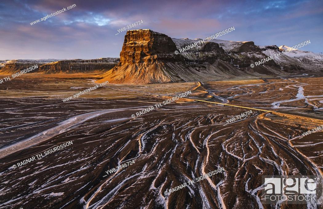 Stock Photo: Landscape, Skeidararsandur, Vatnajokull National Park, Iceland.