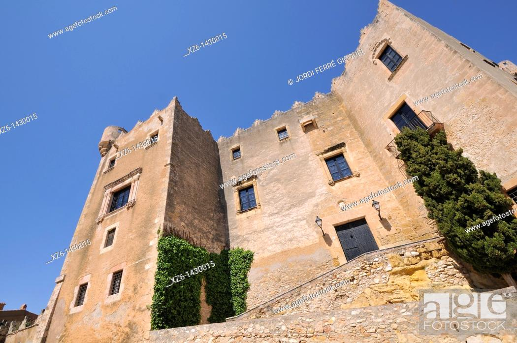 Stock Photo: Medieval castle of Altafulla,Tarragona province, Catalonia, Spain, Europe.