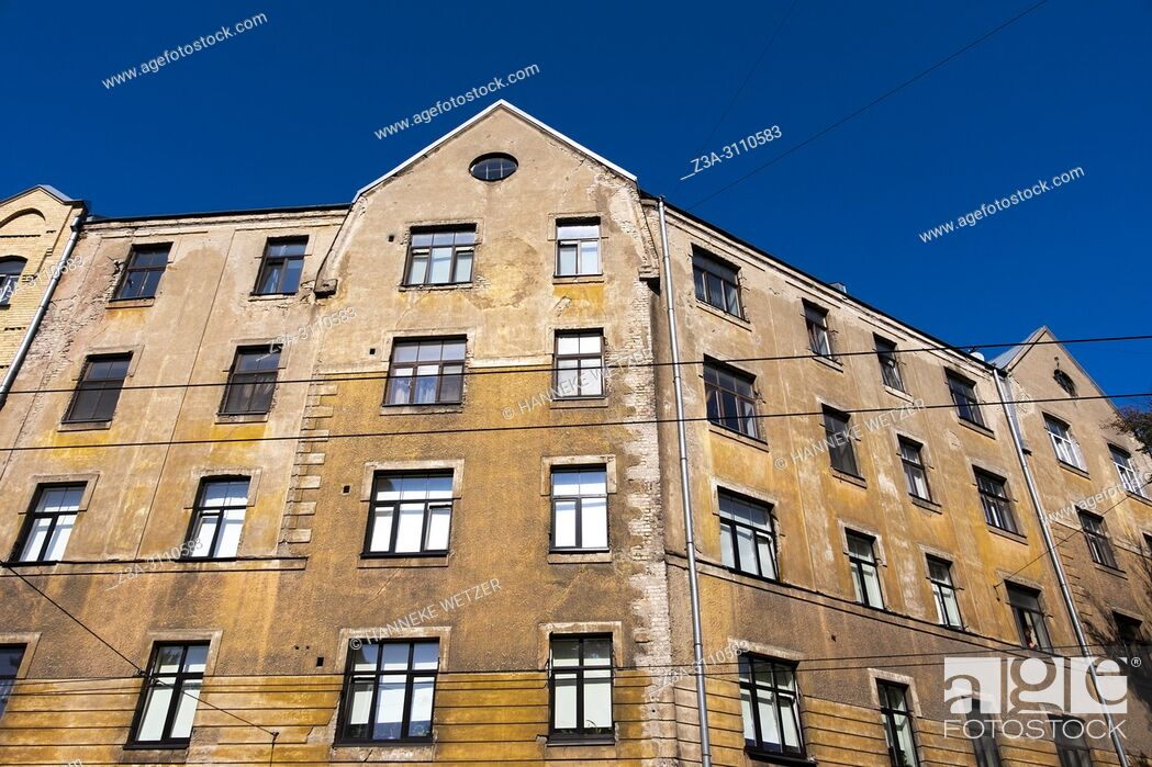 Stock Photo: Traditional houses in Riga, Latvia, Europe.
